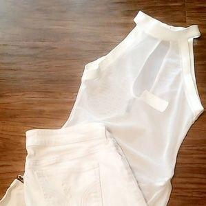 blanc noir Tops - White sheer bodysuit